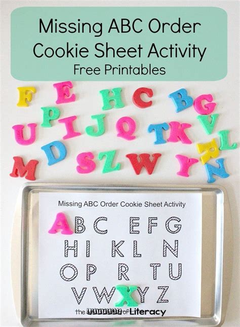 printable abc order games missing abc order cookie sheet free printables preschool