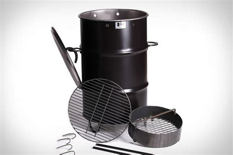 metal trash can pit garbage can barbecues pit barbecue