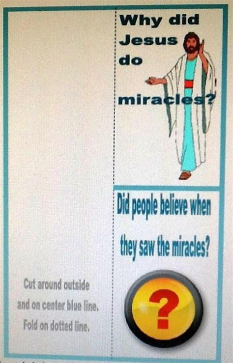 miracles of jesus crafts for bible for jesus and his miracles sunday school