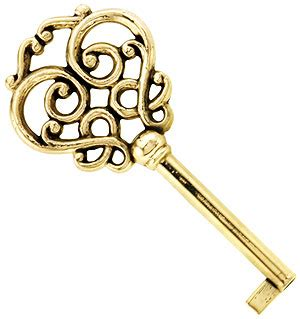 Solid Brass Drawer Key with Fancy Bow   House of Antique Hardware