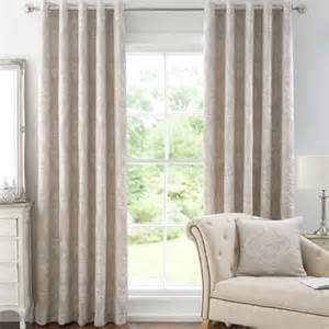 Dunelm Ready Made Eyelet Curtains Seraphina Natural Lined Eyelet Curtains Dunelm