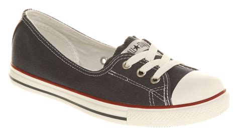 Converse Slop Navy converse lace navy trainers shoes ebay
