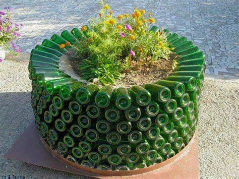 Bottle Gardening Ideas Wine Bottle Garden Planter Upcycling Recycling Glassbottles Gardening Pinterest Gardens
