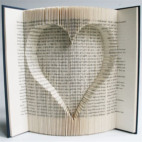 Pattern Art Book | inverted heart book folding pattern with cuts free