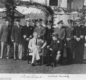 casablanca conference photograph of churchill and roosevelt at 1943 casablanca