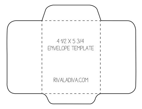 Large Card Template Printable by Diy Envelope Riva La