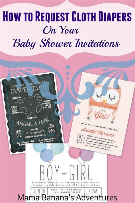 How To Ask For Diapers On A Baby Shower Invitation by How To Request Cloth Diapers Your Baby Shower Invitations