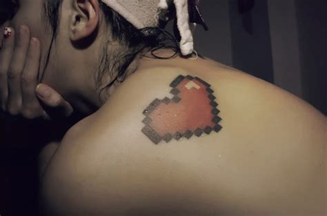 8 bit heart tattoo 8 bit www imgkid the image kid has it