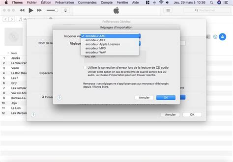 audio format for itunes importer un cd audio avec itunes mac aac mp3 wav