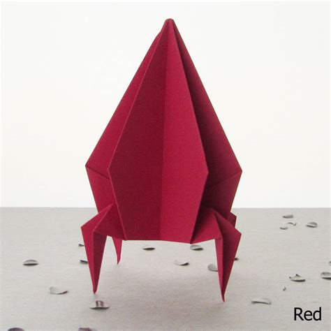 How To Make A Origami Rocket - origami rocket spaceship decoration by the origami