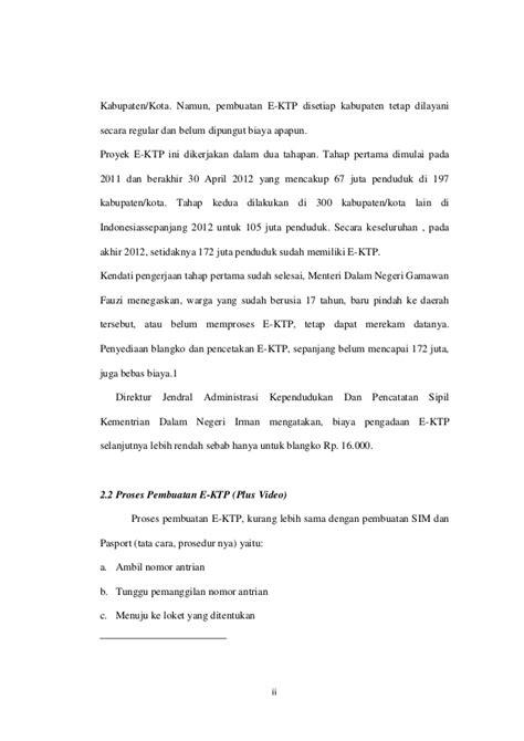 pembuatan ktp reguler makalah pelayanan ktp