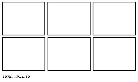 Comic Panel Template 6 panel comic template by 12bluerose12 on deviantart