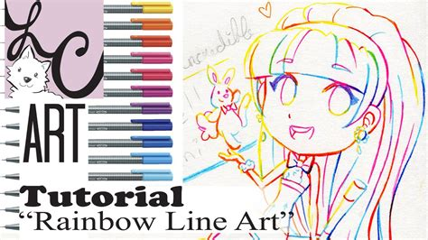 tutorial line art indonesia lemi s rainbow line art tutorial how to ink mix colors