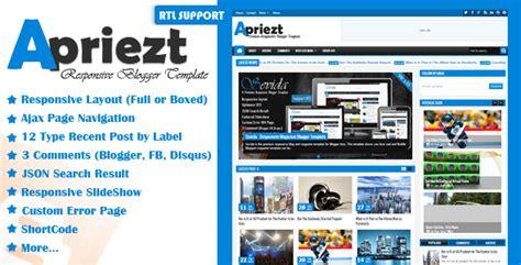 blogger templates for computer download apriezt premium responsive blogger template pc