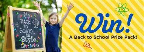 Win Our Giveaway by Enter To Win Our Back To School In Style Giveaway