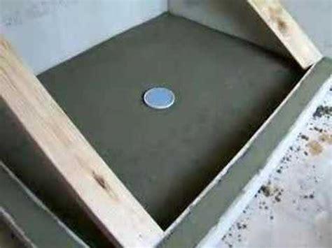 concrete shower pan youtube