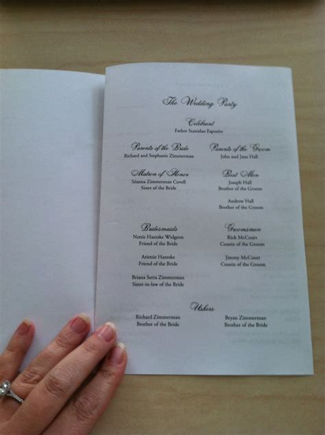catholic mass wedding program template free catholic wedding program template