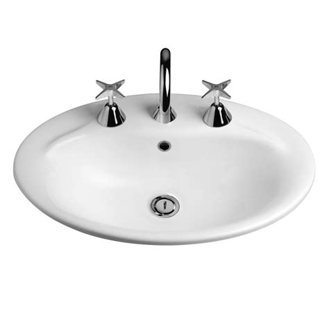 Routleys Plumbing by Caroma White Centro Vanity Basin 1th Bunnings Warehouse