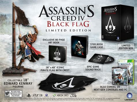 libro assassins creed iv black assassin s creed iv black flag limited edition announced gematsu