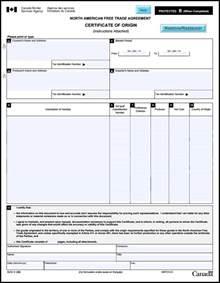 nafta certificate template image gallery nafta certificate
