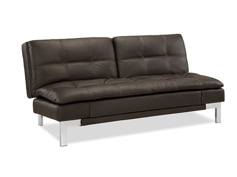 Convertible Sofa by Valencia Convertible Sofa Java By Serta Lifestyle