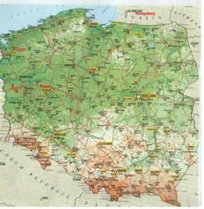 maps of german locations polen karte