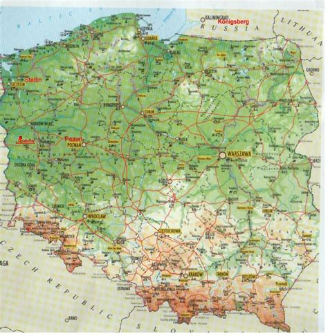 maps of maps of german locations polen karte