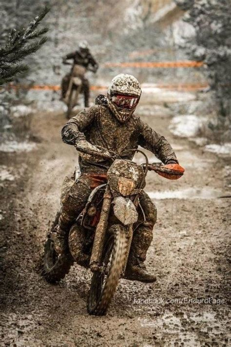 enduro motocross racing racing enduro through the mud yep that s my thing