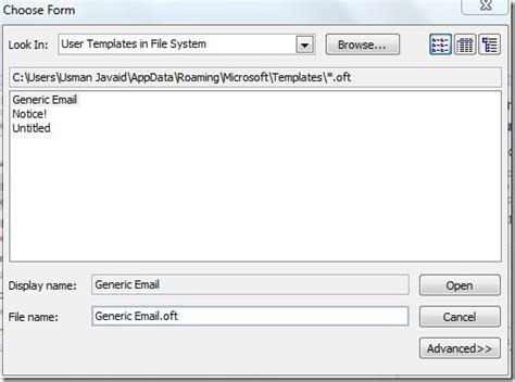 create use email templates in outlook 2010 information