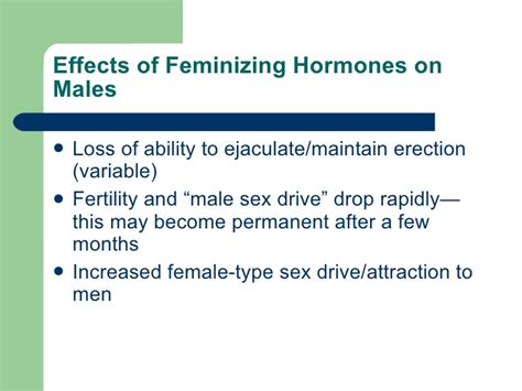 feminizing hormones for men feminization hormones effects on men feminization hormones