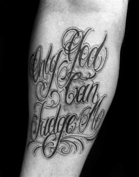 60 only god can judge me tattoo designs for men quote