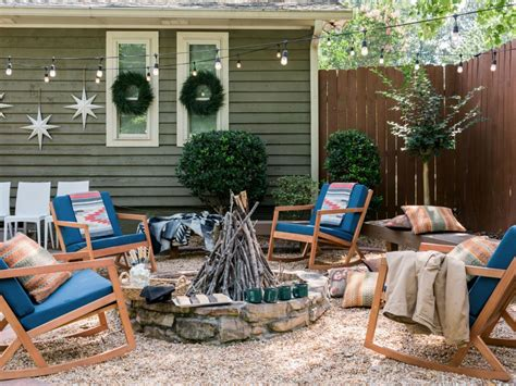 hgtv holiday home decorating 11 ways to give your fire pit holiday flair fire pit