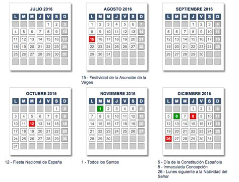 Calendario Escolar Andalucia 2015 Y 2016 Calendario Laboral 2016 Andaluc 237 A De Opcionis