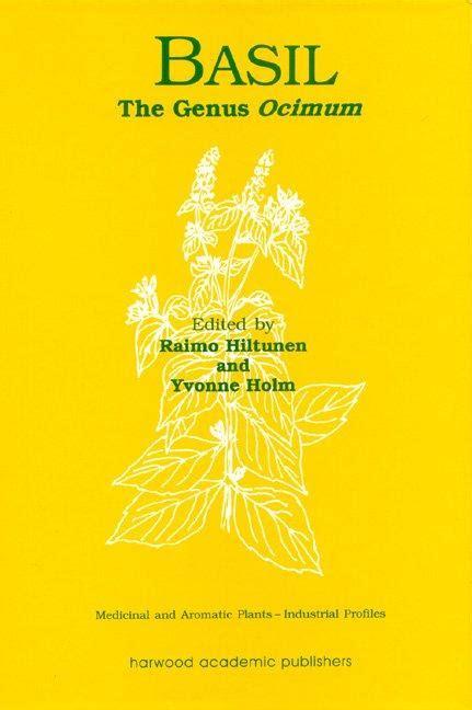 Basil The Genus Ocimum Crc Press Book