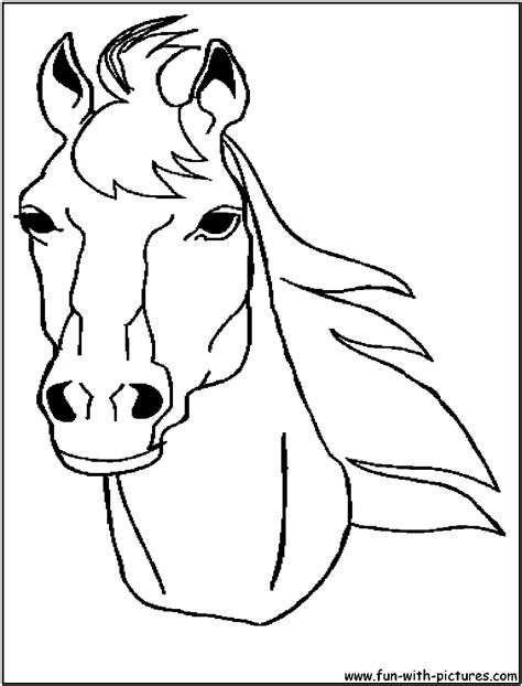 animal stronger quot horse head quot coloring to print