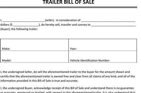 Bill Of Sale Form Download Free Premium Templates Forms Sles For Jpeg Png Pdf Word Trailer Bill Of Sale Template