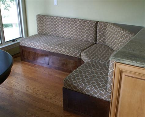 upholstered kitchen banquette custom upholstered banquette for the home pinterest