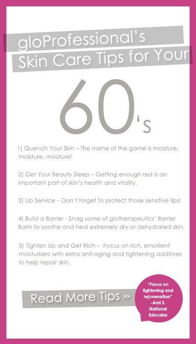 skin care for women in their sixties gloprofessional s skin care tips for your 60s skincare