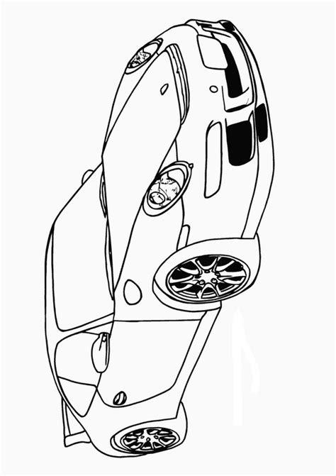 Coloriage de Voitures, dessin La fameuse Porsche 911 à
