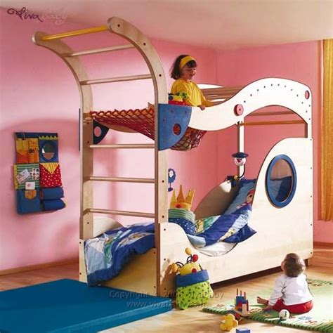 Bunk Bed With Swing Awesome Bunk Bed Room Pinterest