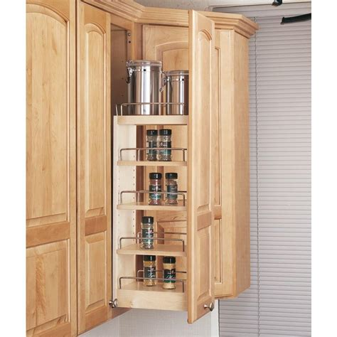 kitchen cabinet organizers home depot rev a shelf 26 25 in h x 8 in w x 10 75 in d pull out wood wall cabinet organizer 448 wc 8c