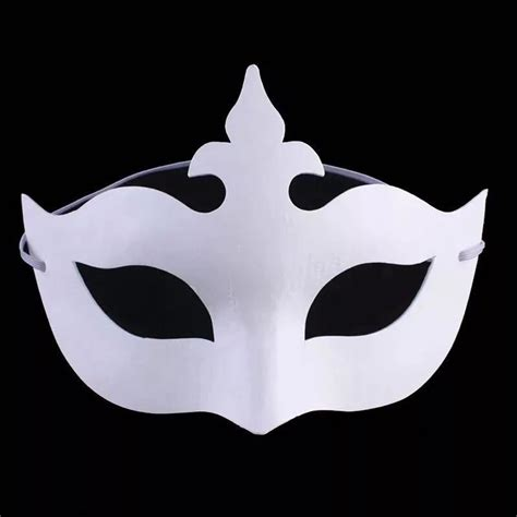 White Mud Mask Naturgo White Mask diy painted white mask crown butterfly blank paper mask masquerade