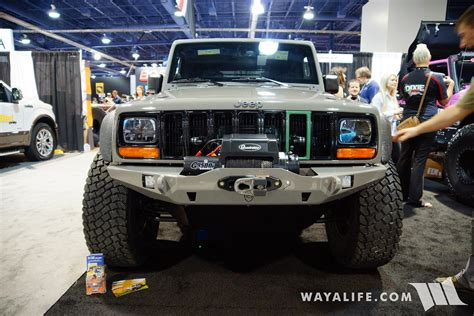 sema jeep grand cherokee 2016 sema mytop xj transformed jeep jk wrangler unlimited