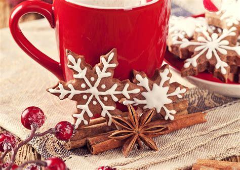 coffee christmas wallpaper baking cookies cinnamon mug snowflakes food wallpaper