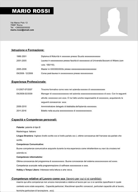 Modelo Curriculum Vitae Europeo Da Compilare Curriculum Vitae Da Compilare Newhairstylesformen2014
