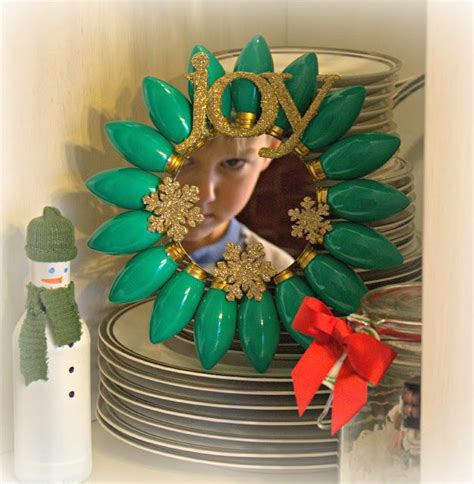 christmas light sunburst dollar store mirror dollar
