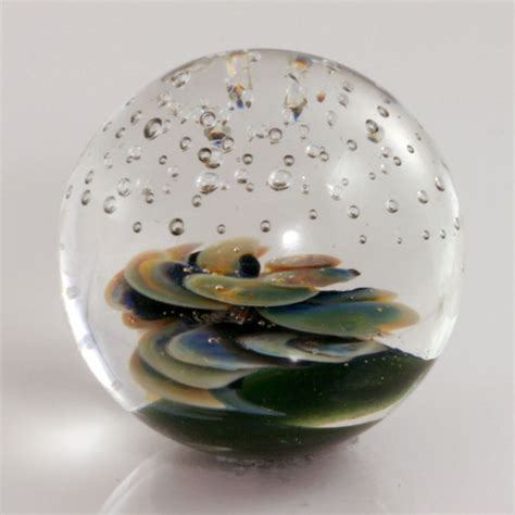 Handmade Glass Marbles - 1 3 8 quot twisted flower handmade boro glass marble