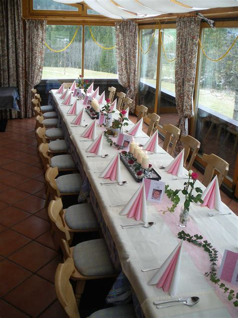 tafel dekoration heilige taufe pia laemmerhof s