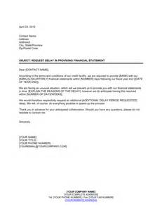 Certification Letter For Financial Statements request delay to present financial statement template