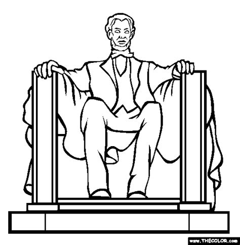 lincoln memorial coloring page lincoln memorial online